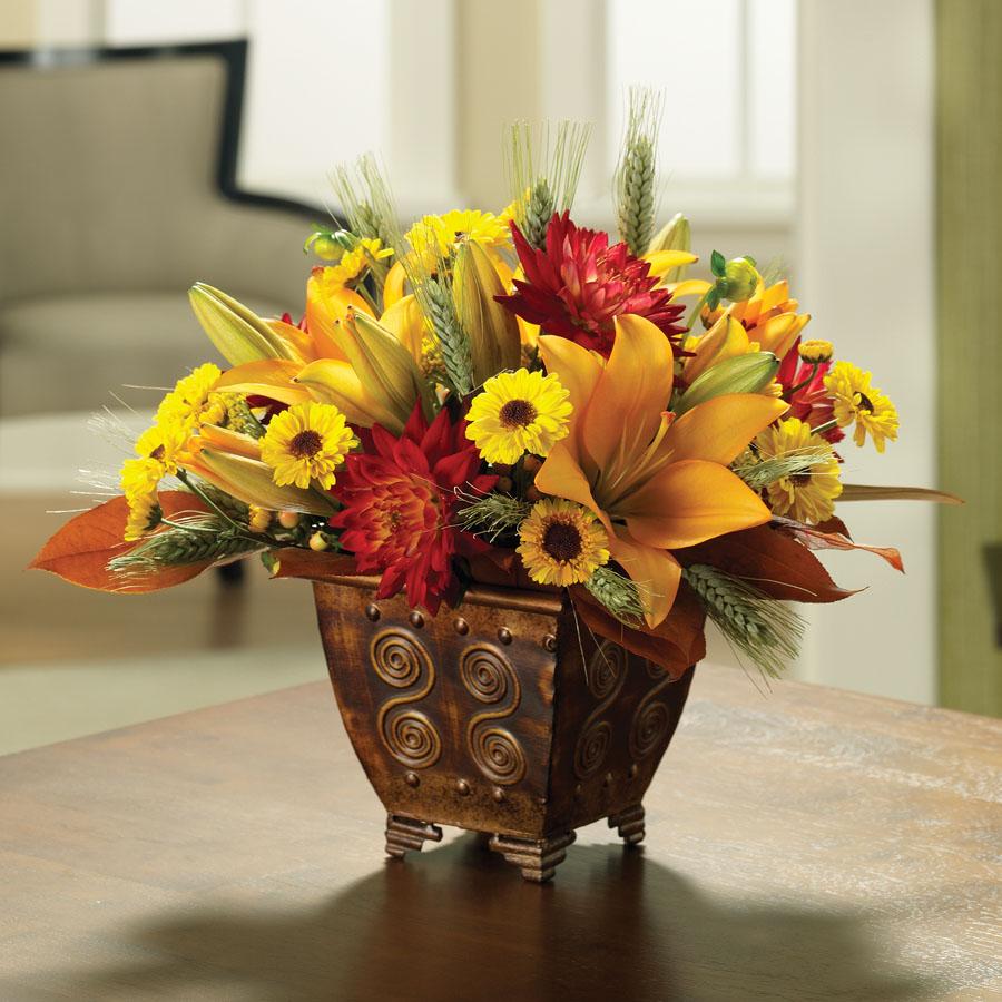 The ftd golden autumn bouquet village greenery florist